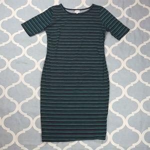 LulaRoe Julie Dress Short sleeve Green Sz Large